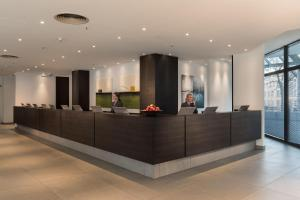 The lobby or reception area at Estrel Berlin