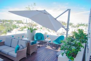 A balcony or terrace at Square Small Luxury Hotel