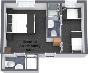 The floor plan of Alfies Hotel