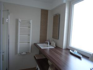 Ein Badezimmer in der Unterkunft Ferienwohnung am Schweriner See