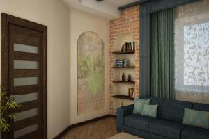 A seating area at Guest house at 9 Proseka