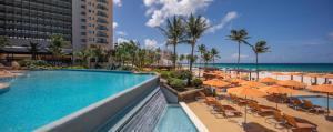 The swimming pool at or near Hilton Barbados Resort