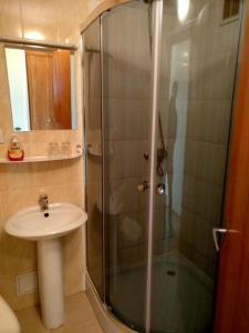 Vonios kambarys apgyvendinimo įstaigoje Hotel Jurbarkas