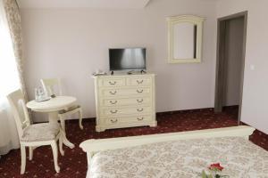 Un televizor și/sau centru de divertisment la Hotel Slavia