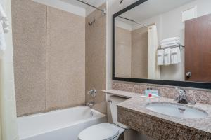 A bathroom at Microtel Inn and Suites Rochester
