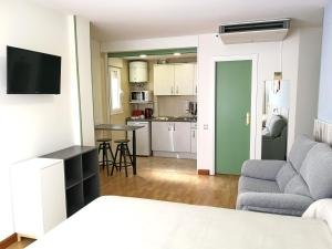 A television and/or entertainment center at Hotel Apartamentos Aralso