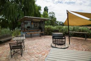 BBQ facilities available to guests at the farm stay