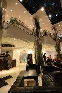 The lobby or reception area at Plasma Hotel Tripoli