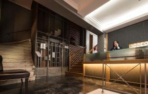 Ο χώρος του λόμπι ή της ρεσεψιόν στο Carolina Hotel since 1934