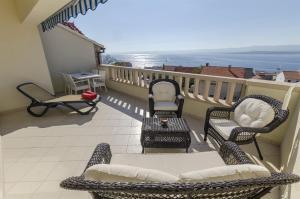 Balkón nebo terasa v ubytování Apartments and Rooms LEA