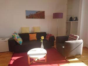 Ein Sitzbereich in der Unterkunft Domaine du Burignon