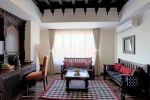 A seating area at Hotel Shambala