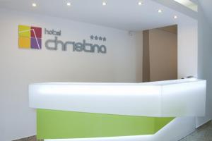 The lobby or reception area at Christina Hotel