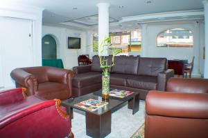 The lobby or reception area at Hotel Siar