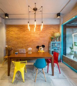 A kitchen or kitchenette at Sleep Well DMK Hostel