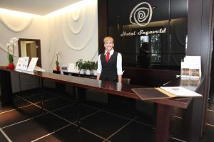 The lobby or reception area at Good Stay Segevold Hotel & Spa