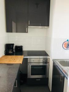 A kitchen or kitchenette at Zeedijk22Nieuwpoort