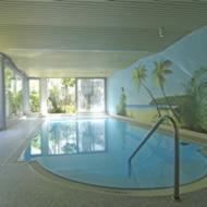Der Swimmingpool an oder in der Nähe von Hotel Café Nothnagel