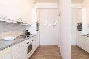 Cuisine ou kitchenette dans l'établissement App De Panne 1