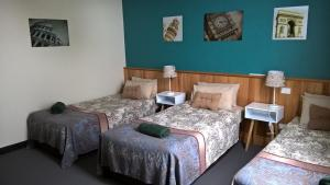 A bed or beds in a room at The Moe Motor Inn