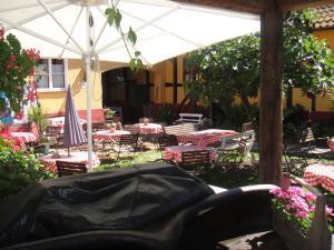 En restaurant eller et andet spisested på Pension Klostergaarden Hotel