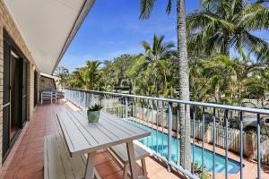A balcony or terrace at HighTide On Noosa Sound