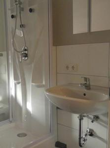 Ein Badezimmer in der Unterkunft CityZimmer Eltmann