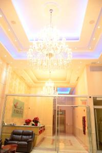The lobby or reception area at Asiatic Hotel - Flushing