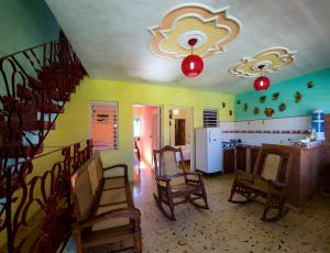 A restaurant or other place to eat at BR& La Casita de Nora