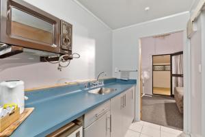 A kitchen or kitchenette at Oakwood Manor Motor Lodge