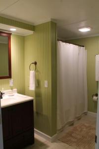 A bathroom at Lake Landing Cabin #53677