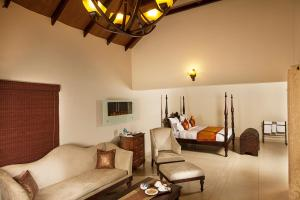A seating area at Old Kent Estates & Spa, Coorg