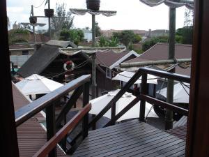 A balcony or terrace at Bay Cove Inn