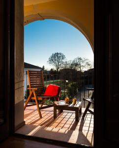 Balcone o terrazza di Hotel Villa Dei Carpini