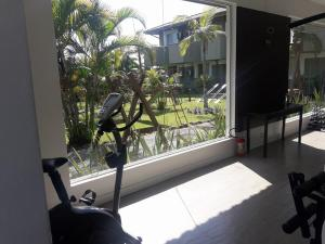 The fitness center and/or fitness facilities at Camboa Hotel Paranaguá