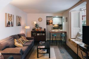 Zona de estar de ViVA Romantic duplex near Giralda