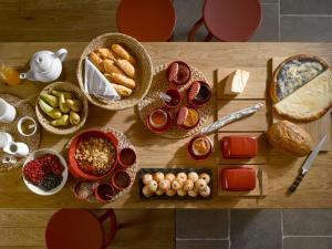 Možnosti snídaně pro hosty v ubytování Mezi plutky