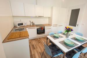 Cuisine ou kitchenette dans l'établissement Neklanova Apartments