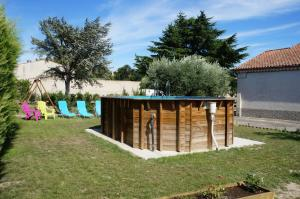 Children's play area at Gite d'Anais
