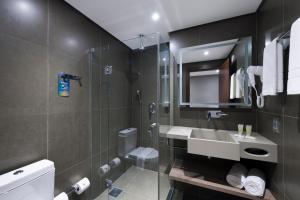 A bathroom at Novotel Itajai