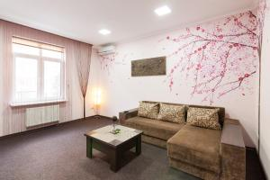 A seating area at Lux Apart Lviv