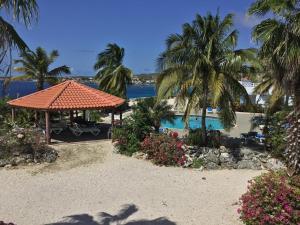 Uma vista da piscina em Oceanfront Townhome in Marazul Dive Resort ou nos arredores