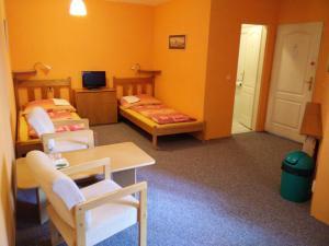 Гостиная зона в Pension Dobroucky