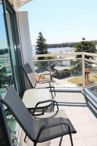 A balcony or terrace at The Oaks Waterfront Resort, Unit 502
