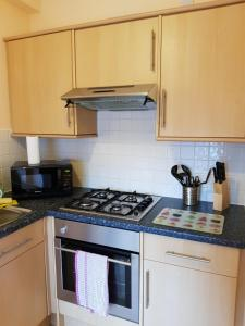 A kitchen or kitchenette at One Bedroom Flat by Stirling Castle