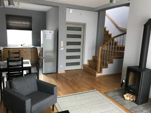 A seating area at Apartamenty Banino