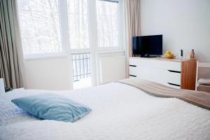 Posteľ alebo postele v izbe v ubytovaní Penzión Modrý Dom