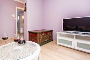 Telewizja i/lub zestaw kina domowego w obiekcie Bay of Sopot