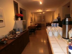 """Ein Restaurant oder anderes Speiselokal in der Unterkunft """"Donauhotel Neu-Ulm"""""""