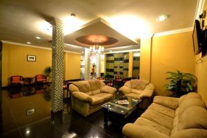 The lobby or reception area at Hotel RAE Bukit Bintang